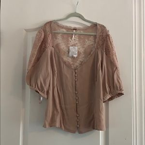 Free people pretty pink top